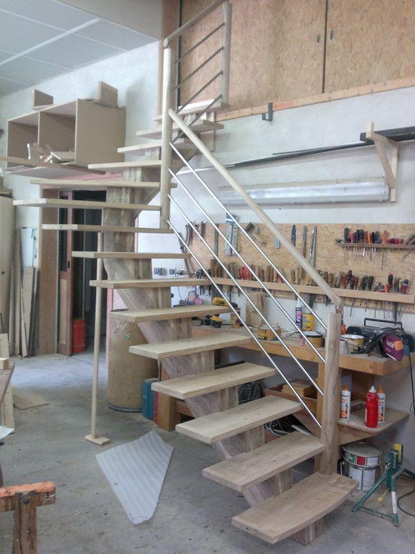 De l escalier l angle de l escalier ou au milieu du - Escalier milieu de piece ...